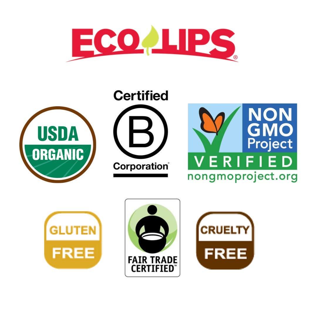 Eco Lips LIP SUGAR SCRUB 2 Pack (2-0.5oz jars) 100% Organic Lip Care Treatment with Organic Sugar & Coconut Oil - Gently Exfoliate & Polish Dry, Flaky Lips, 100% Edible (Vanilla Bean & Brown Sugar) by Eco Lips