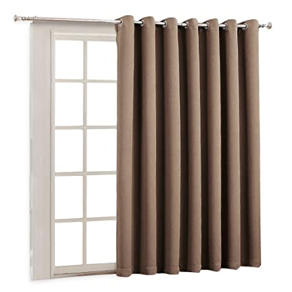 Door Blinds In Ryb Home Wide Large Sliding Door Curtains Blackout Energy Smart Thermal Blinds Drape Amazoncom