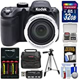Kodak PIXPRO AZ401 Astro Zoom Digital Camera (Black) 32GB Card + Batteries & Charger + Case + Tripod + Kit