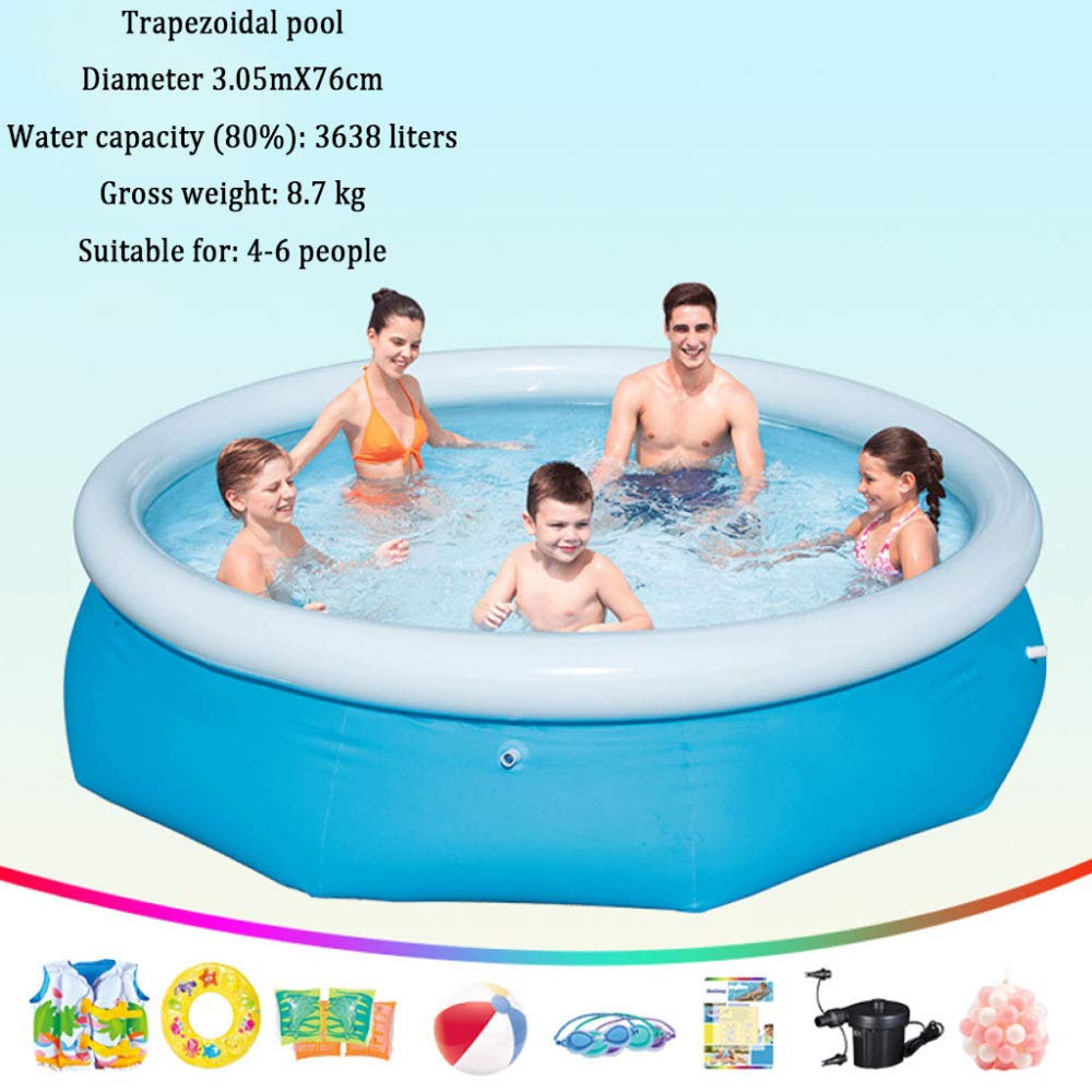 Amazon.com: DSFGHE Fast Set Pool,Piscina Hinchable Easy Set ...