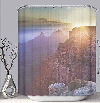 BEICICI Color Shower Curtain Liner Anti Mildew Antibacterial The Grand Canyon Sunrise Scenic Landscape