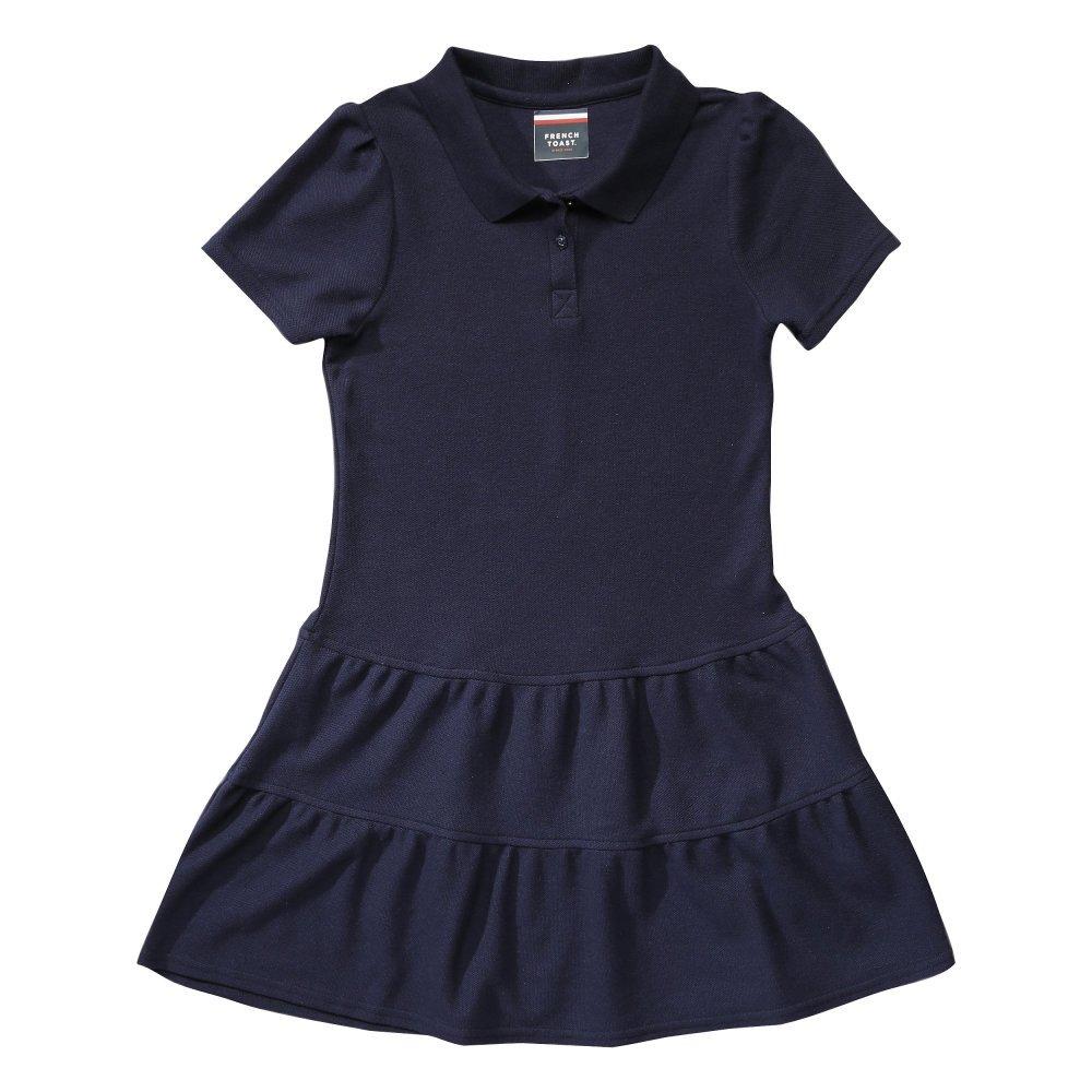French Toast Girls' Ruffled Pique Dress SZ9018
