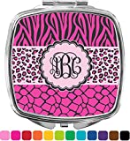 Triple Animal Print Compact Makeup Mirror (Personalized)