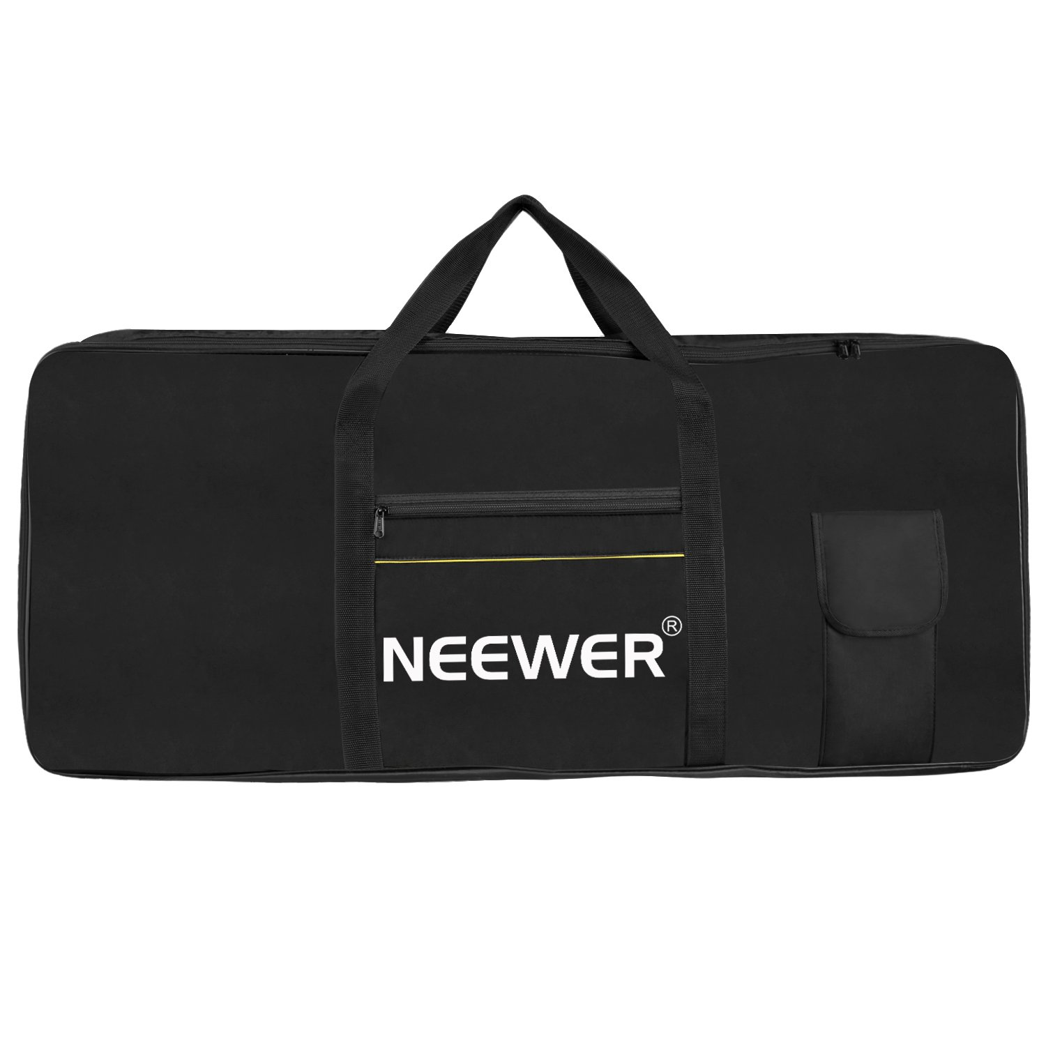 Neewer 61 Key Electronic Organ Piano Keyboard Case, Portable Bag Made of Oxford Cloth,39x16x5.5 inches/98.5x41x14 centimeters with Big Cushion Storage,Cotton Padded for Church,Concert,Music Studio Use