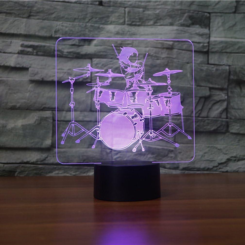 Alien 3D Illusion Home Cafe Bar L/ámpara De Decoraci/ón Led Touch Escritorio Luz De La Noche Usb Charge 7Color Cambiante L/ámpara De Mesa Regalo Del Ni/ño
