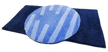 Nicol Badteppich Ramona Blau 60x100cm Amazon De Kuche Haushalt