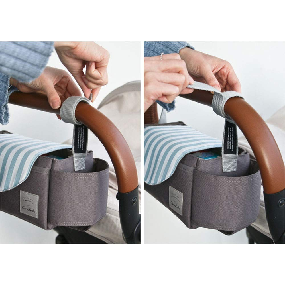 DHUYUN Stroller Organizer Universal Stroller Organizer Bag with with 2 Cup Holders for All Strollers Secret Compartment for Your Wallets and Keys 4 Colors Parents Stroller Organizer Bag by DHUYUN (Image #8)
