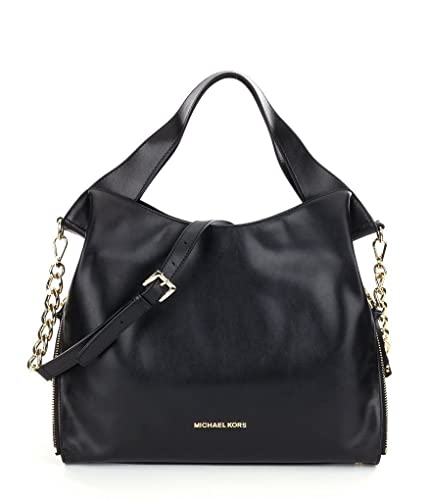 adaa10c3039d Amazon.com: MICHAEL Michael Kors Devon Large Shoulder Tote Bag Black ...