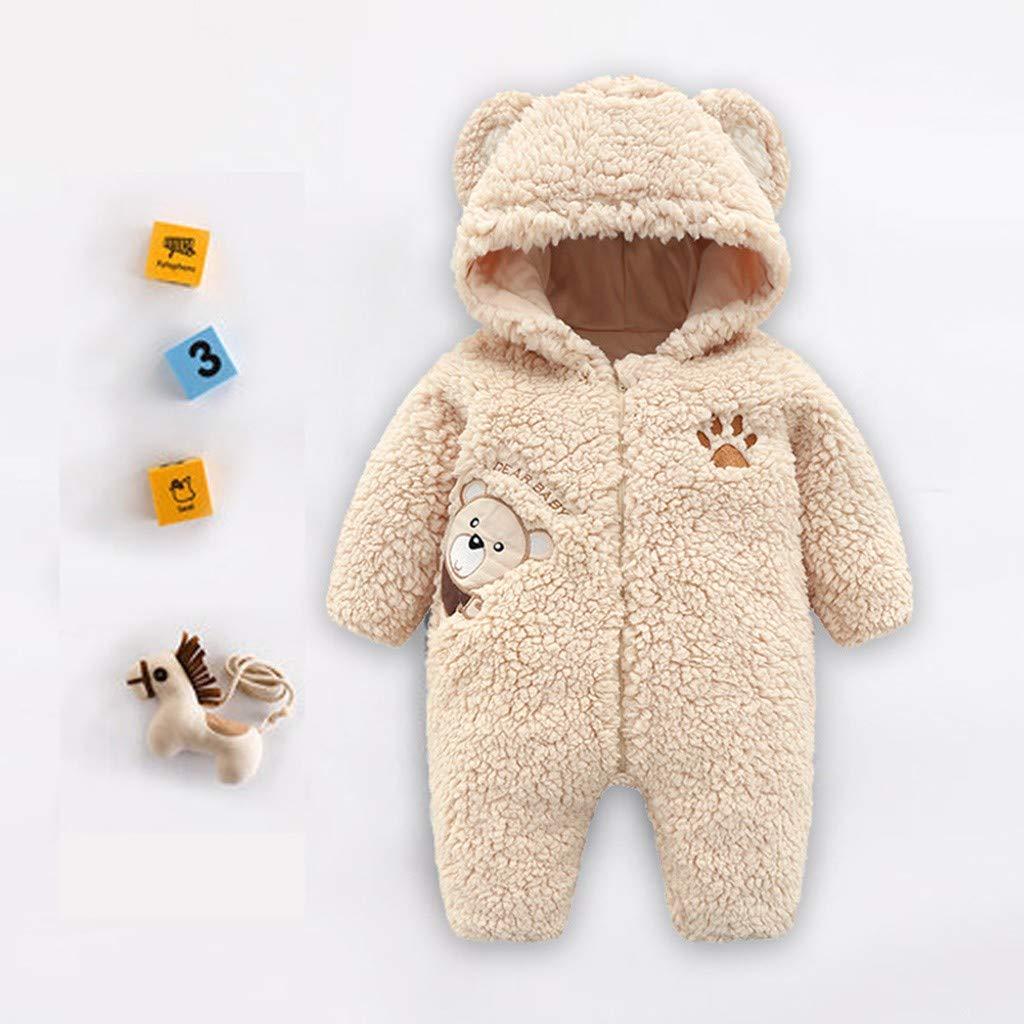 8a0f1b3d4 Amazon.com  Winter Baby Boy Thermal Romper