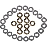 CNBTR Silver Steel 3-Parts Axial Thrust Bearing F8-16M 8 x 16 x 5mm Pack of 10