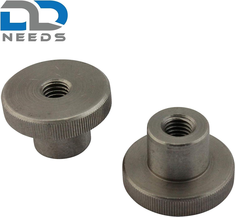 /écrous /à moletage M 6 selon DIN 466 forme haute en acier inoxydable A1 VA PU: 2 pi/èces D2D avec bord molet/é
