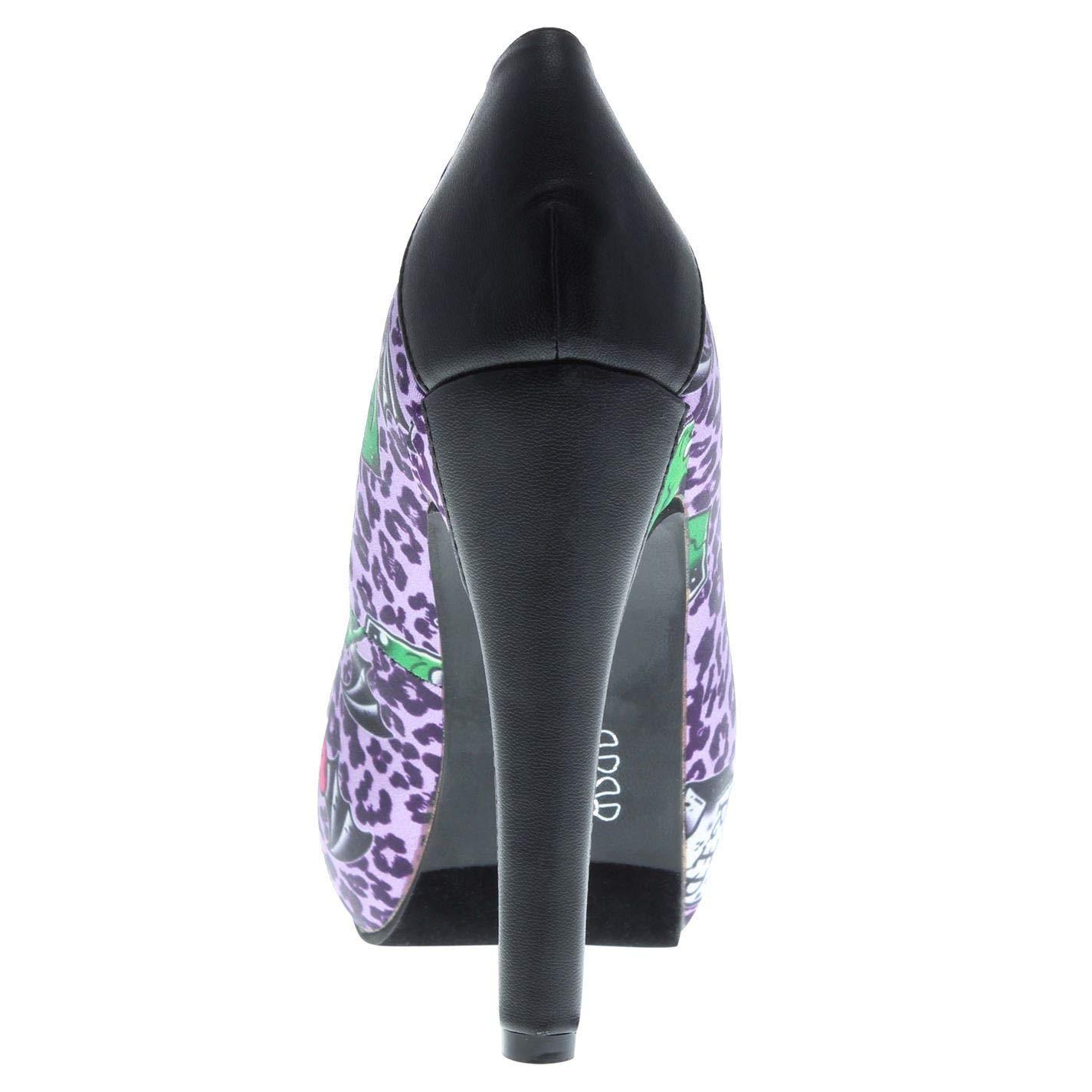 Iron Fist Back from The Dead High Heels Stiletto Shoes Womens Purple Footwear