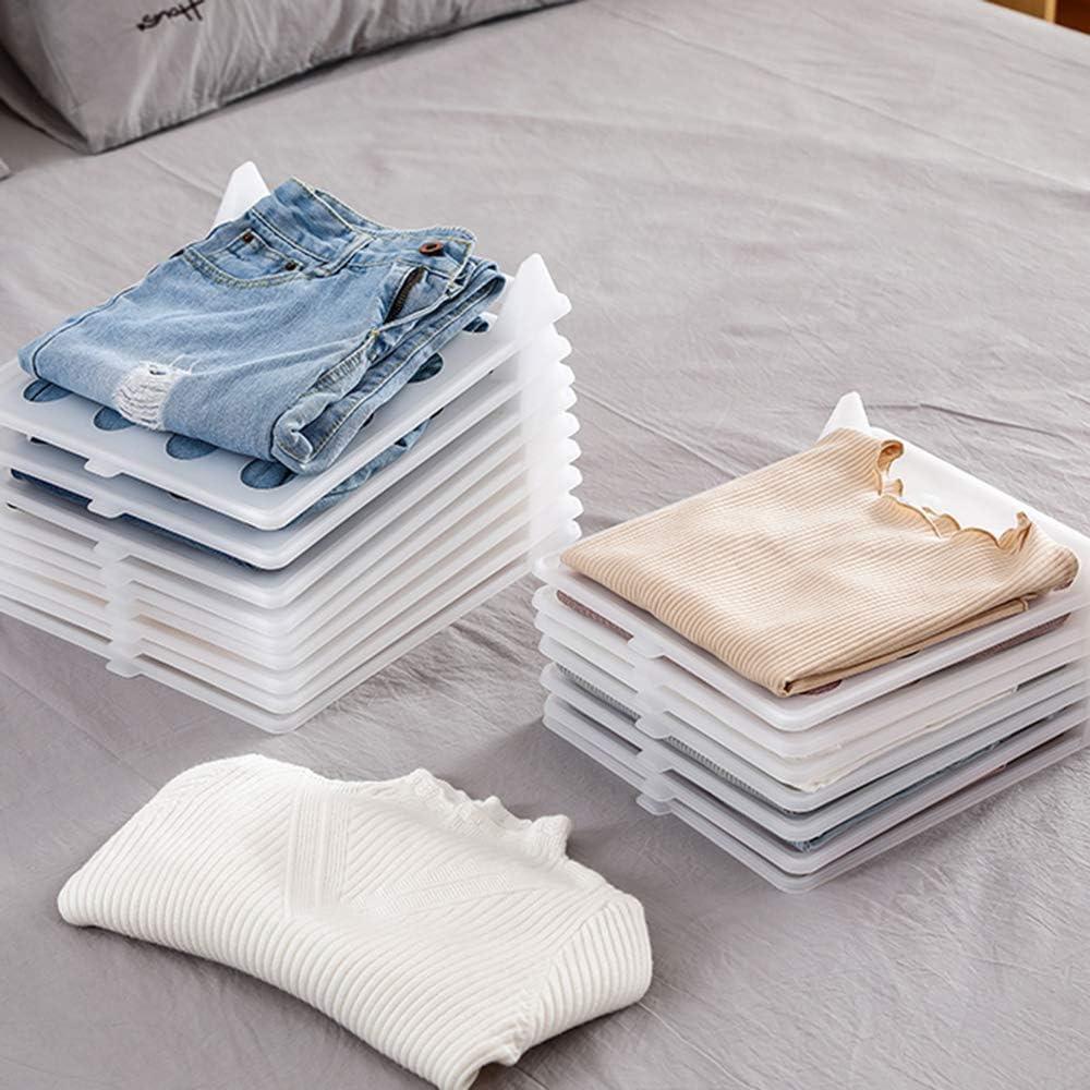 carpeta de camisa organizador de ropa para almacenamiento de ropa y organizador de viaje para armarios Transparente organizador de armario RUIQIMAO 30 paquetes de divisores de ropa para camisetas