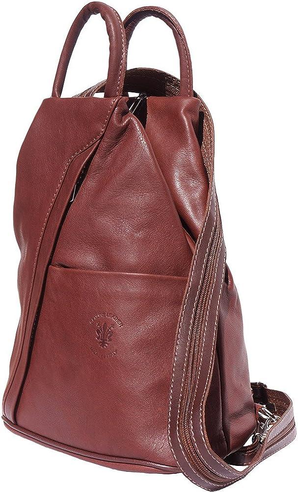 Florence Leather Market Sac à dos et à èpaule Vanna en cuir de vache souple 2061 Sacs à main en cuir Marron