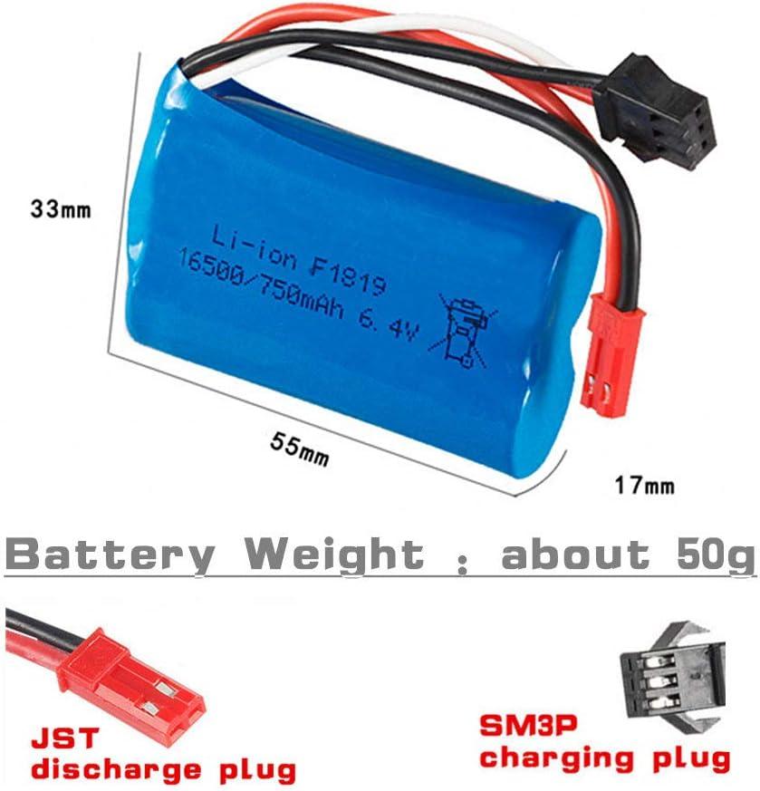 Bateria 6.4V 15C 750mAh JST + SM3P Plug con cable usb