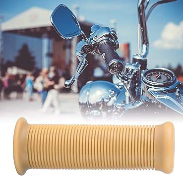 KSTE Paire de 1 Pouce de 25 mm Compatible with Moto Vintage Poign/ée TPU Guidon Grip Noir