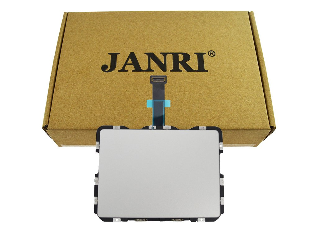 JANRI Trackpad Touchpad & Flex Cable for MacBook Retina MBPR 13'' 13.3 inch MacbookPro12,1 Early A1502 2015 MF841LL/A MF839LL/A MF843LL/A MF840LL/A 821-00184-A 810-00149-A 810-00149-04 821-00721-A by JANRI