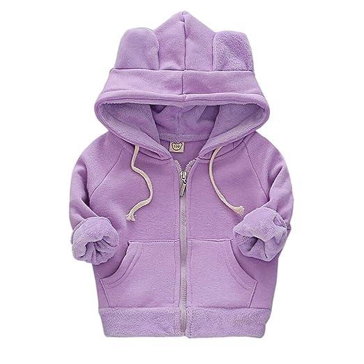 acb492dcd Amazon.com  AMSKY ❤Toddler Kids Baby Boys Girls Zipper Long Sleeve ...