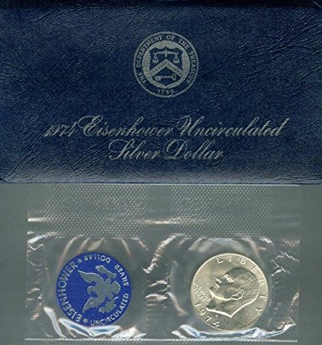 1974 S Eisenhower IKE Dollar 40% Silver Comes in original US mint packaging Dollar Uncirculated US Mint