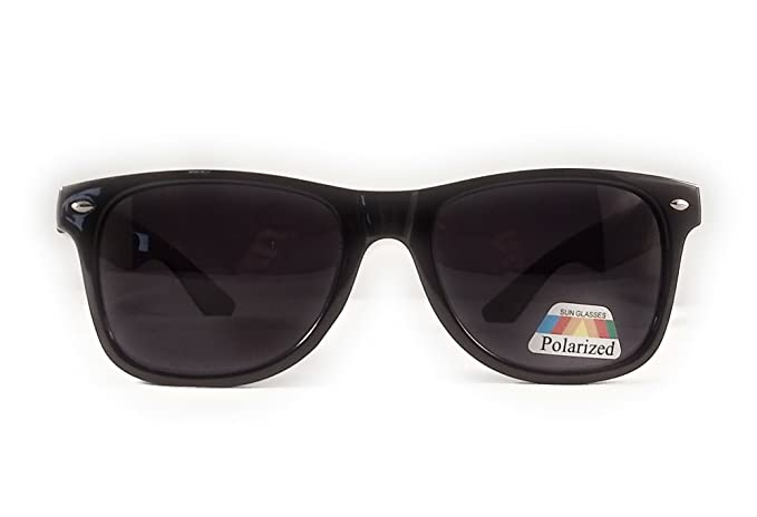 0057d5b6f15b XXL Mens Extra Large Wayfarer Polarized Sunglasses for Big Wide Heads 150mm  (Black