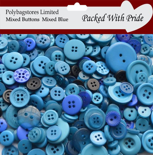 ff6838c21dd Mixed blue sewing buttons assorted sizes arts crafts scrapbook card making  kitchen home jpg 496x500 Blue