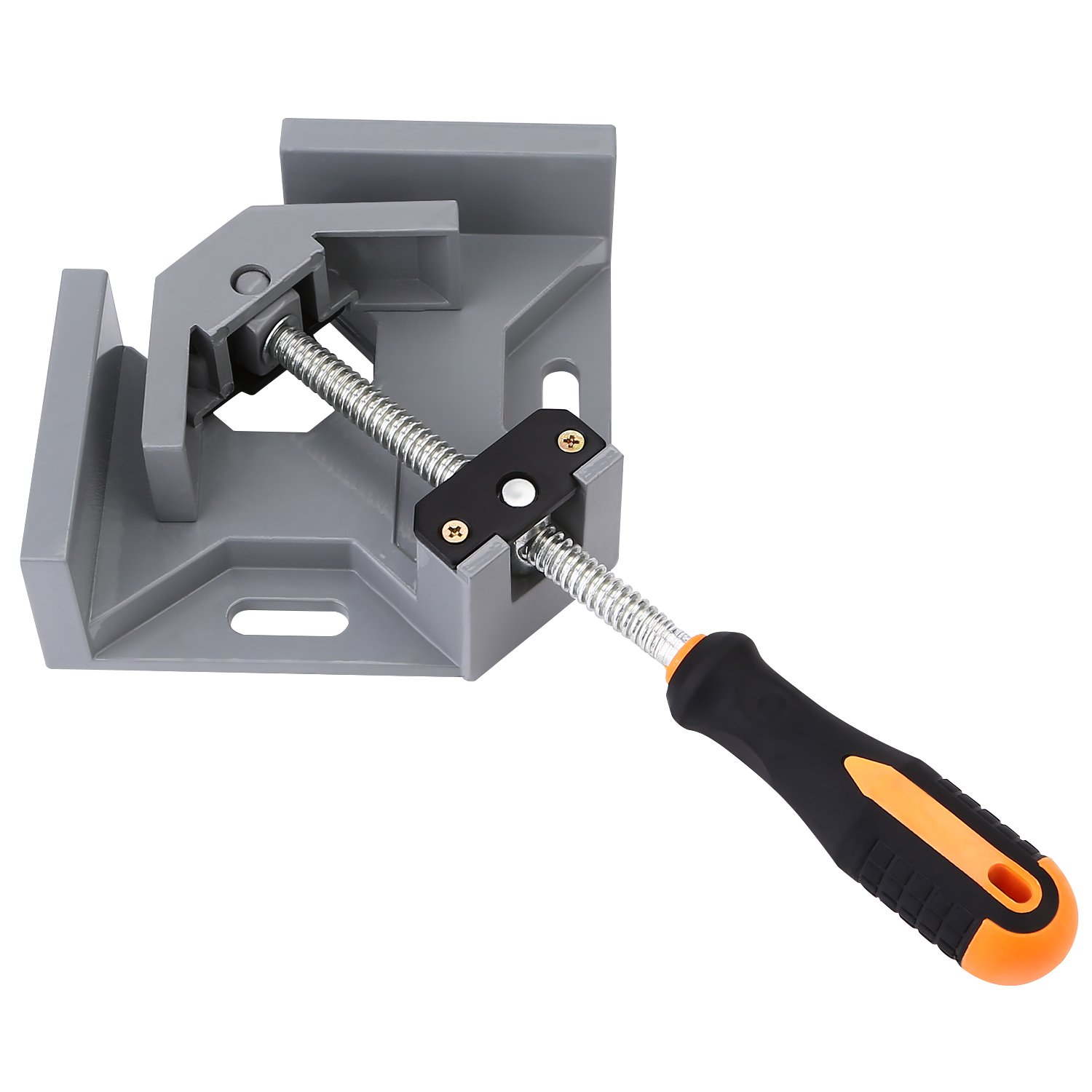 OCGIG 90 Degree Single Handle Right Angle Clamps Adjustable Swing Jaw Corner Clamp Vise Tool Jig
