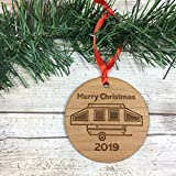 Pop Up Camping Trailer 2019 Merry Christmas Ornament