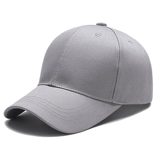 e5c6489c733e2 Yidarton Unisex Classic Cotton Dad Hat Adjustable Plain Baseball Cap ...