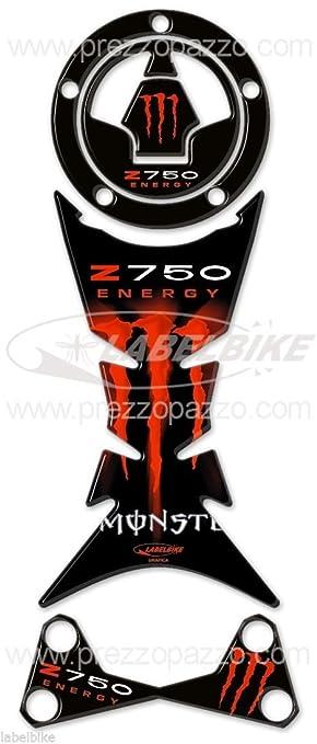 Kit de Pegatinas Resina Gel 3d Z 750 Compatible para Moto Kawasaki Z750 Negro Rojo: Amazon.es: Coche y moto