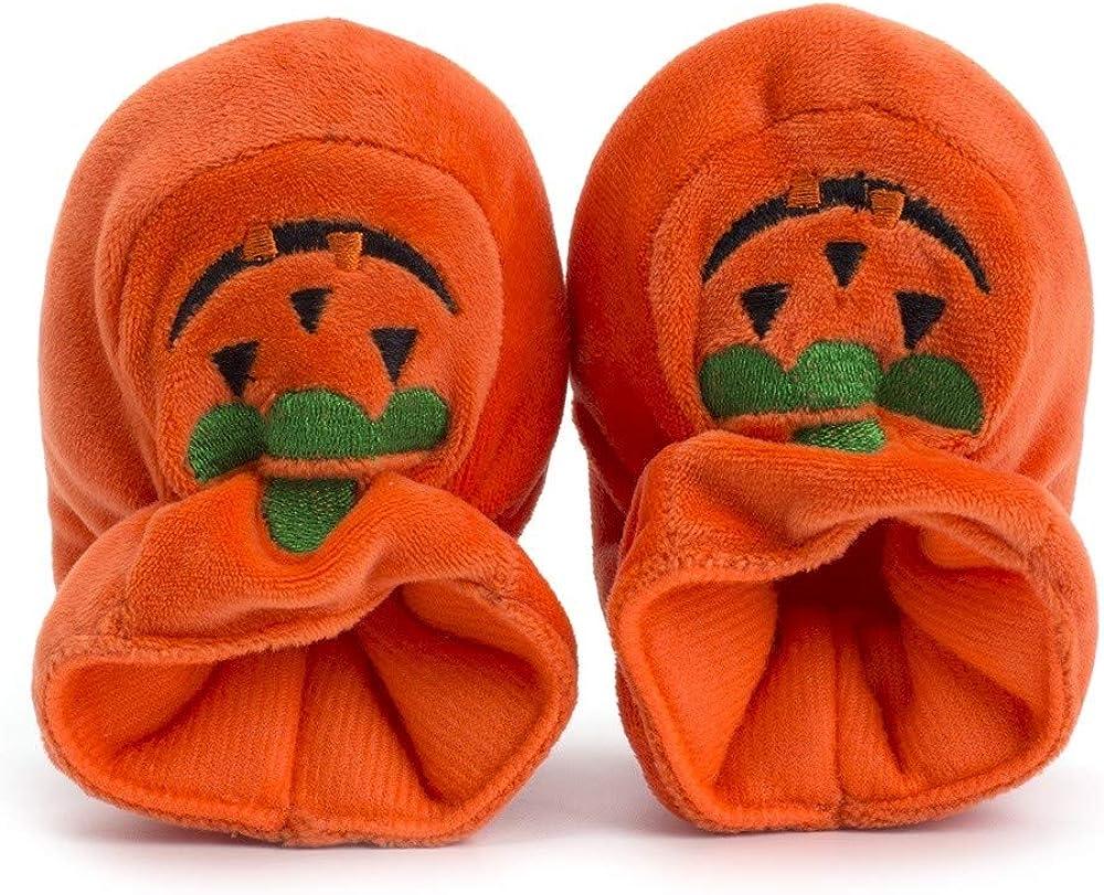 LABIUO Halloween Chaussures B/éb/é Nouveau-n/é B/éb/és Filles Gar/çons Chaussures Premiers Pas Citrouille Doux Semelle Antid/érapant Chaussures pour Halloween F/ête Anniversaire No/ël