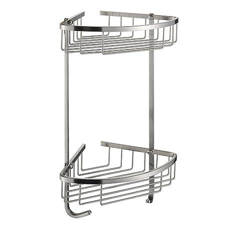 taozun sus 304 stainless steel shower caddy basket 2tier triangular wall mount brushed