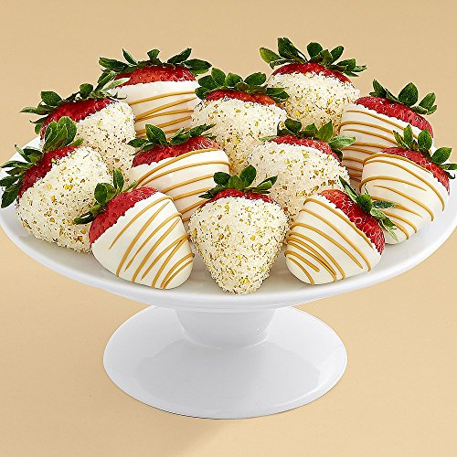 Shari's Berries - Full Dozen Hand-Dipped Champagne Strawberries - 12 Count - Gourmet Baked Good Gifts