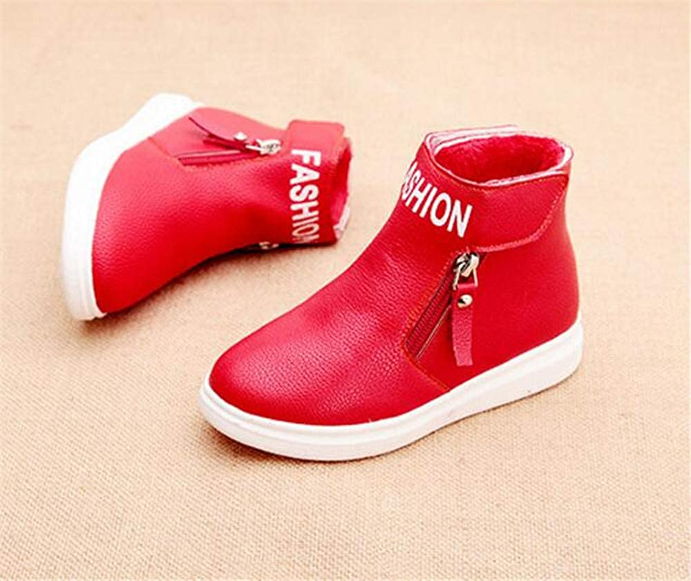 Boys Girls Laces Ankle Booties Fashion Combat Boots Hiking Shoes Casual Sneaker