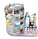 ZUOMAメークボックス 化粧品収納ボックス コスメスタンド メークケース 小物/化粧品入れ コスメ収納 調節可能 透明アクリル 大容量 L型 (クリア)