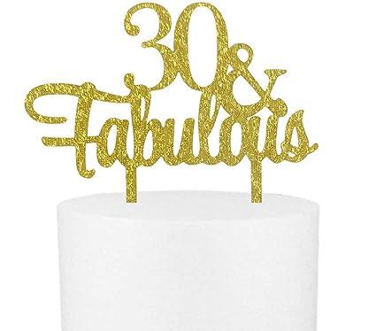 Amazon.com: Letrero de decoración para tartas con purpurina ...