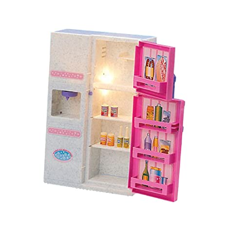 Amazon Com Baoblaze 1 6 Fridge Foods Drinks Model For Hot Toys