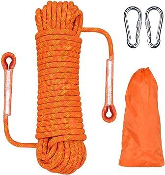 20M Cuerda de Escalada al Aire Libre, Cuerda de Escape Cuerda de Paracaídas de, para Acampar, Escapar, Extinción de Incendios, Cuerda, Exploración de ...