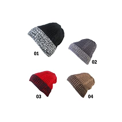 1b2201126f9 Amazon.com  Womens Knitted Hat with Brim HAT1011  Home   Kitchen
