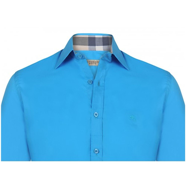 Burberry - Polo - Manga larga - para hombre azul turquesa M ...