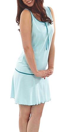 f3f068bea2 Graziella Nachthemd Theodora 90 cm lang Sleepshirt Nachtkleid Türkis 36/38  Nachtwäsche 100% BW