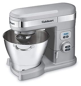 Cuisinart SM-55BC 5-1/2-Quart 12-Speed Stand Mixer, Brushed Chrome (Renewed)