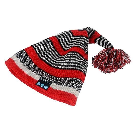 64923fe4d24b9 Amazon.com  DEATU Bluetooth Wireless Smart Beanie Hat Handsfree Music  Speaker Chriatmas Hat Sale(Red  Clothing
