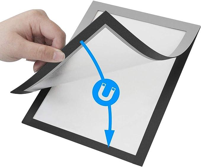Magnetic Document Sign Holder//Display Frame for Wall//Window//Door//Cabinet//Bulletin Board//Refrigerator//Whiteboard Black