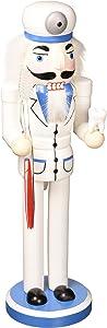 "Santa's Workshop Dentist Nutcracker, 14"" Tall, Blue/White"