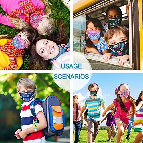 3pcs Kids face Madk Breathable Reusable Cloth Face Madk Washable Animal Dinosaur Cartoon Pattern for Girls Boys