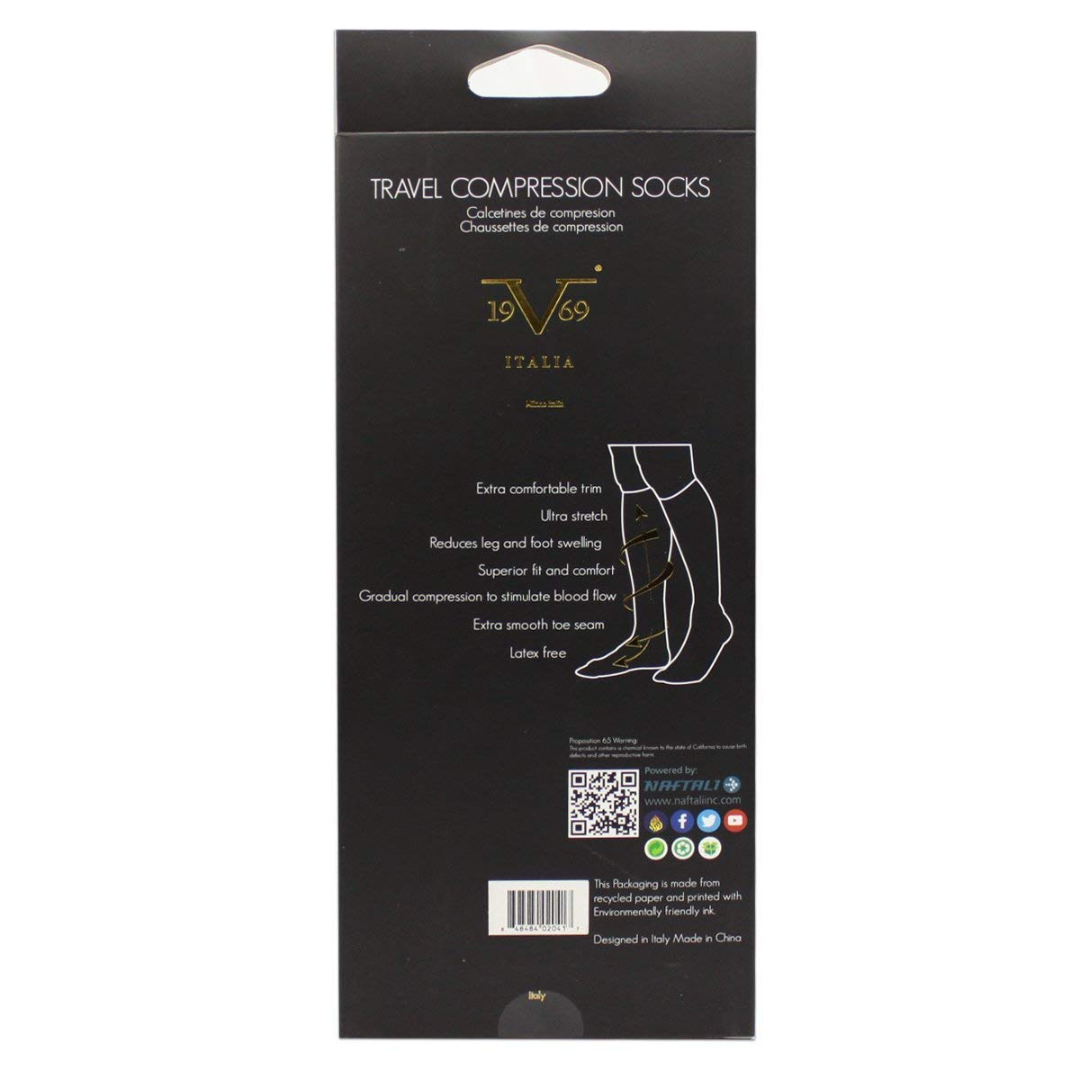 Amazon.com: Compression Socks - V19.69 Italia - Alessandro Versace - Best Socks for Travel, Running, Athletes, Pregnancy, Medical, Varicose Veins, ...