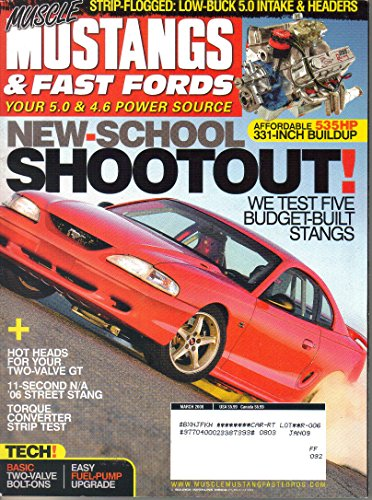 Muscle Mustangs & Fast Fords Magazine, March 2008 (Vol. 21, No. 3)