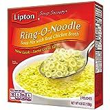 Lipton Soup Secrets Noodle Soup Mix, Ring-O-Noodle Soup 4.9 oz (Pack of 12)