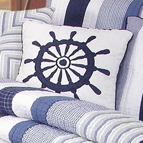 Nantucket Dream Ship's Wheel Pillow (Nantucket Ships Wheel)