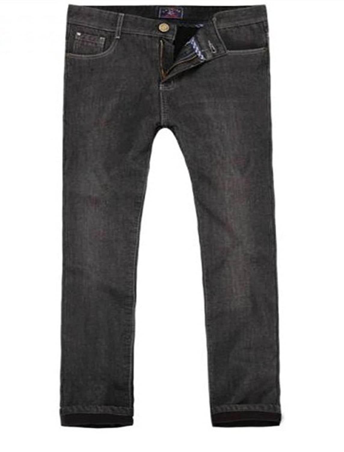 U-SHARK Men?è—Ÿs Denim Winter Jeans Warm Lined Thick Casual Trousers KZ29